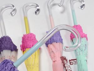 Acrylic umbrella handles