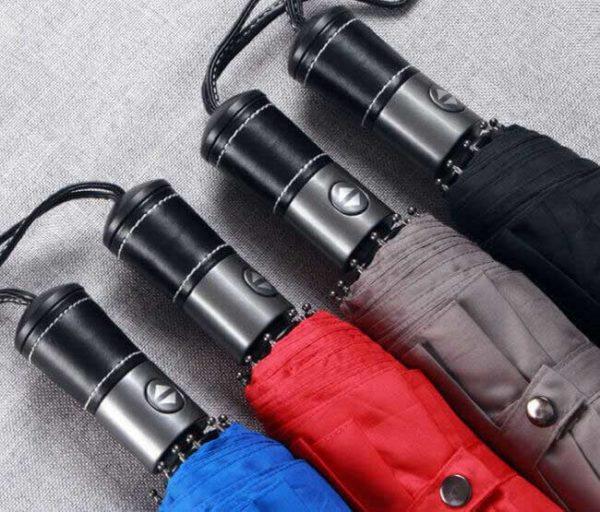 PU leather handle automatic umbrella