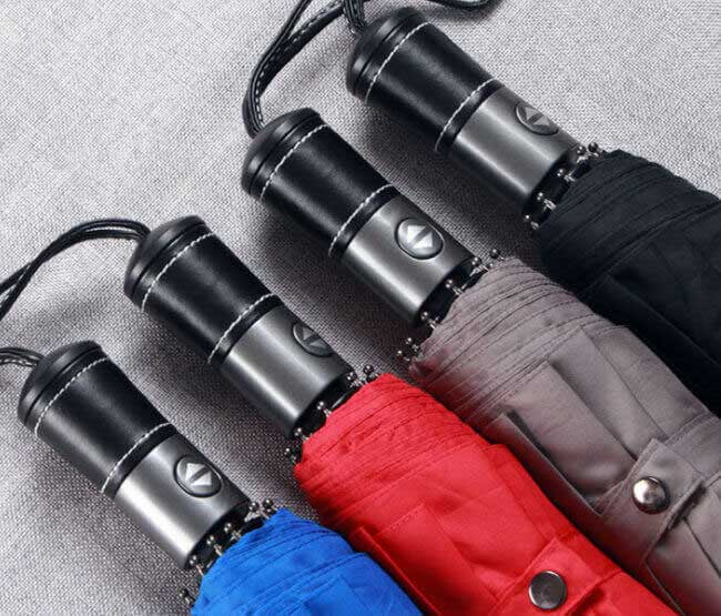 PU leather handle automatic umbrella