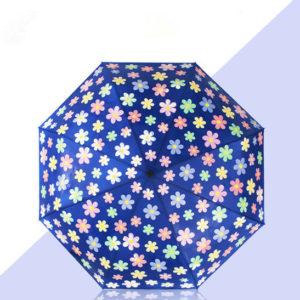 automatic color changing folding umbrella