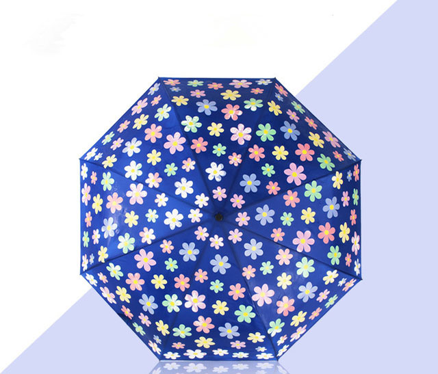 automatic color changing folding umbrella