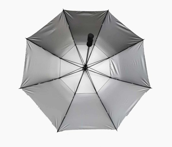 Golf umbrella with silver coating