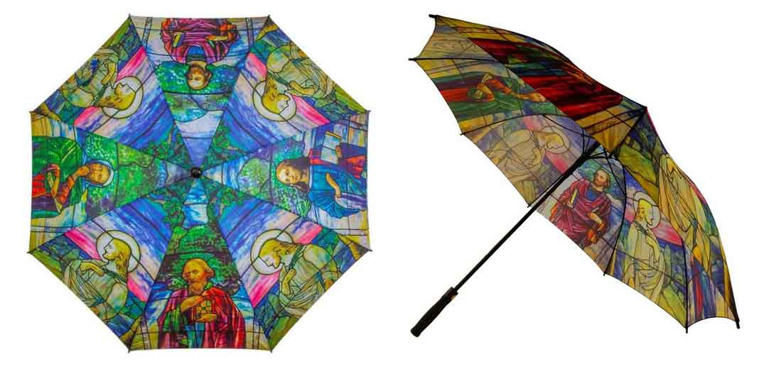 Jesus and the Four Evangelists Tiffany Art Umbrellas