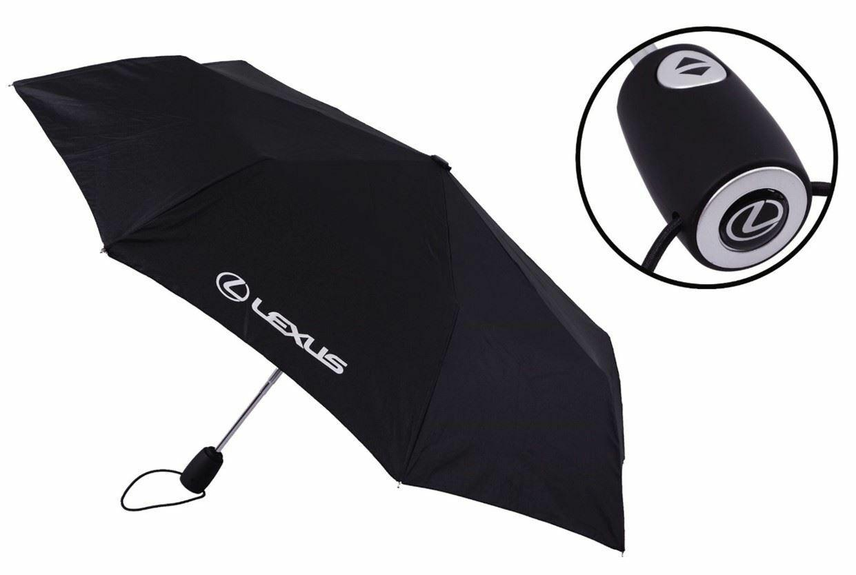 Lexus Black Automatic Telescopic Umbrella