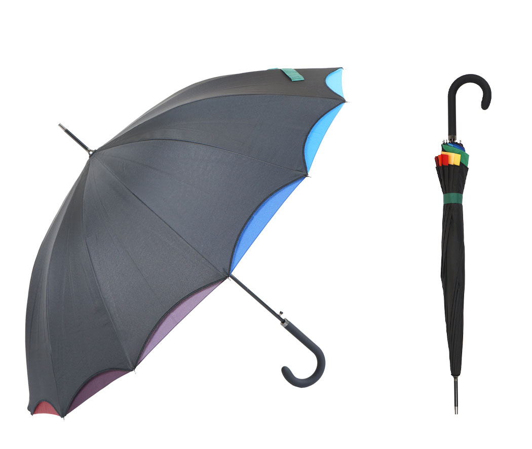 Straight umbrella with hook handle