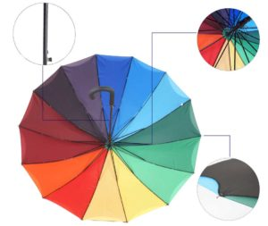 rainbow curved straight umbrella