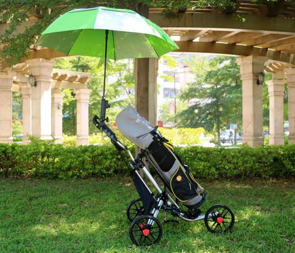 umbrella with clamp for golf trolley