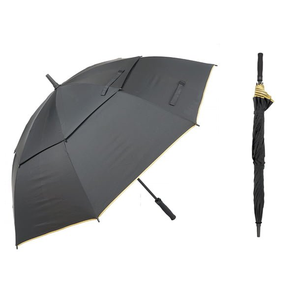 vented golf umbrella with perimeter tape