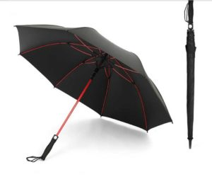 Red Fiberglass Frame Golf Umbrella