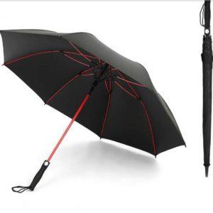 Red Fiberglass Frame Golf Umbrella