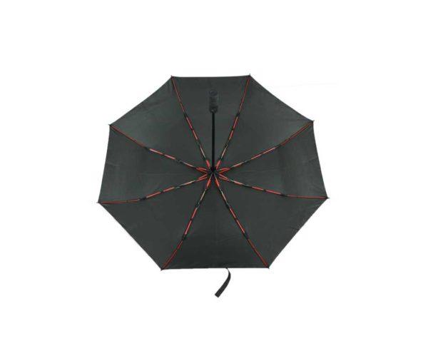 Folding Umbrella With Coloured Ribs