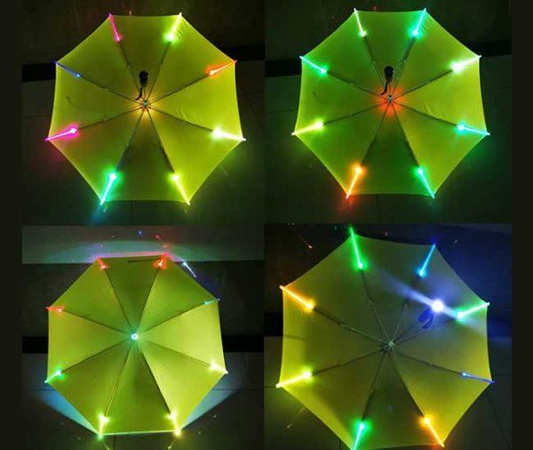 Light up umbrella change color