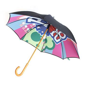 wooden umbrellas
