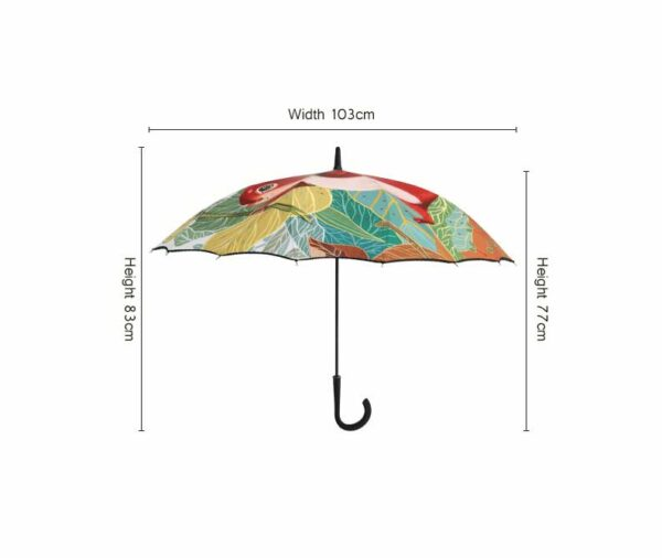 full panels custom printing one piece cover straight umbrella