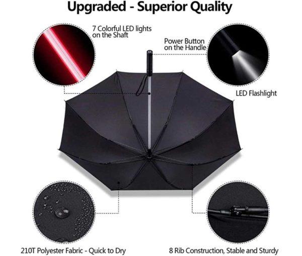 lightsaber led umbrella