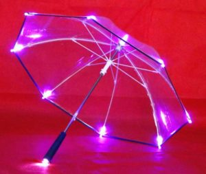 Clear Led Umbrella