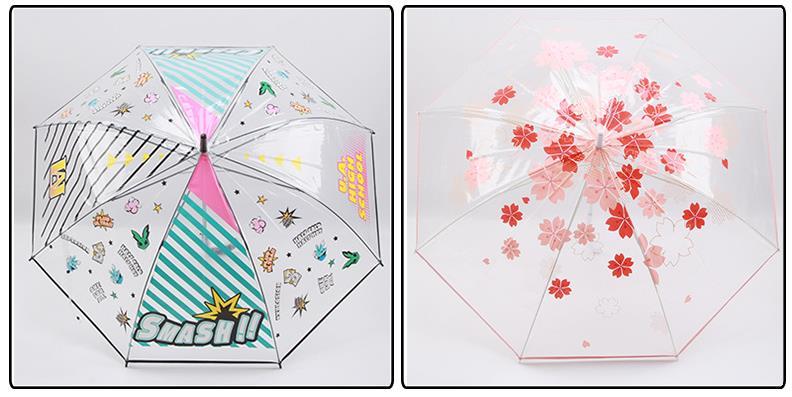 Custom transparent led umbrella