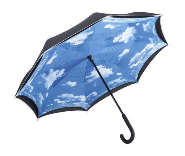 Blue sky inverted umbrella