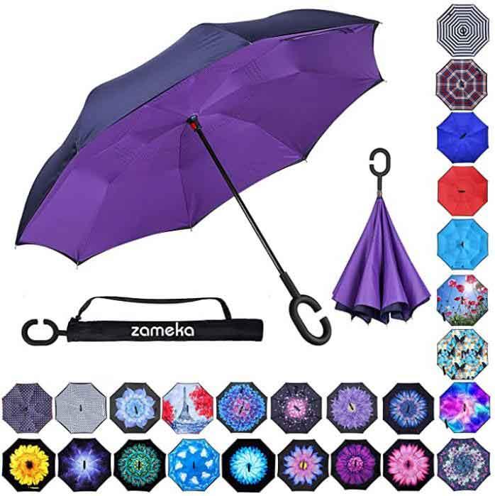 Branded-umbrella-Z-ZAMEKA-Double-Layer-Inverted-Umbrella