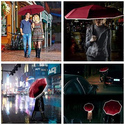umbrella with reflective stripe