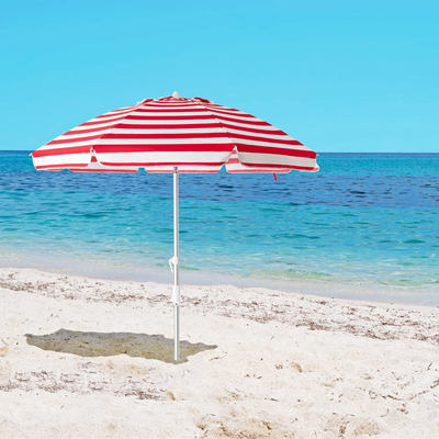 6.5FT Red Stripes Beach Umbrella