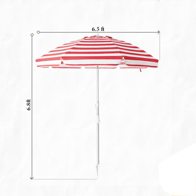 Red Stripes Beach Umbrella pole