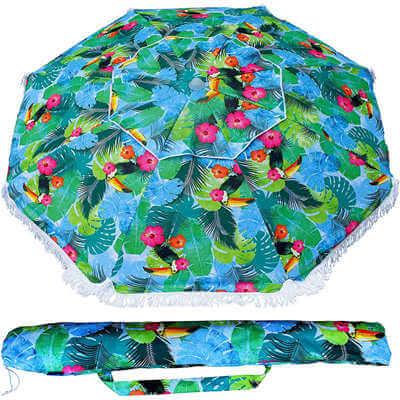 Custom Printed Outdoor Fringe Beach Umbrella (2)