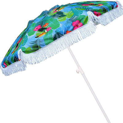 Custom Printed Fringe Beach Umbrella