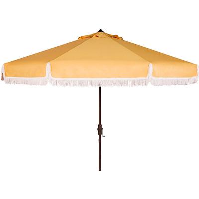 Custom fringe beach umbrella caopy