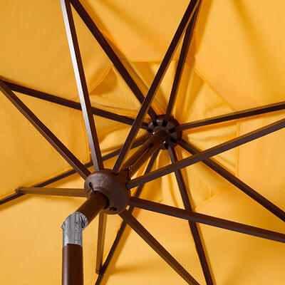 Fringe beach umbrella frame