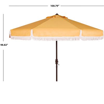 Fringe beach umbrella size