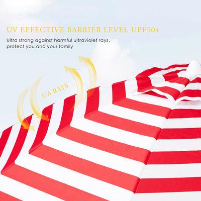 UV Red Stripes beach umbrella