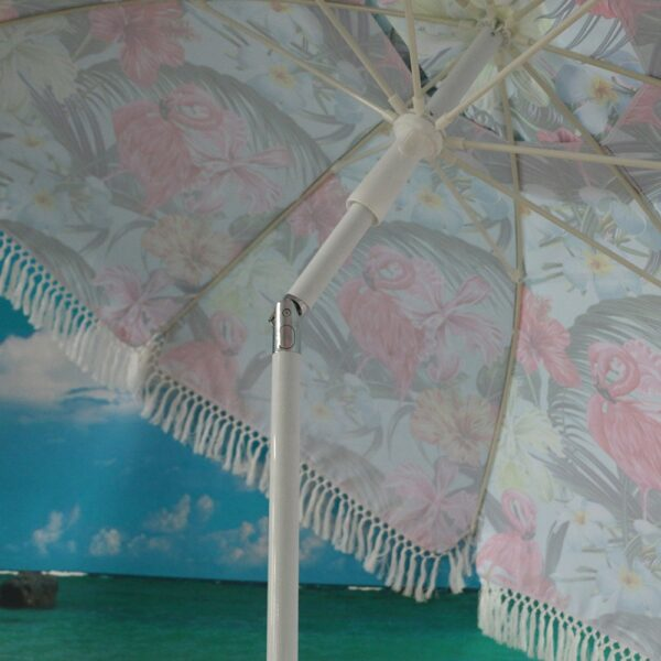customized design tassel luxury beach umbrella (2)