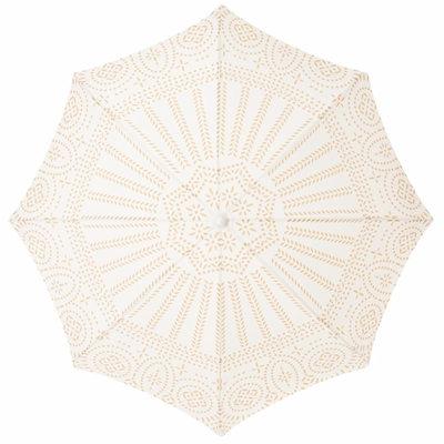 2021 Yellow and White Boho Beach Umbrella