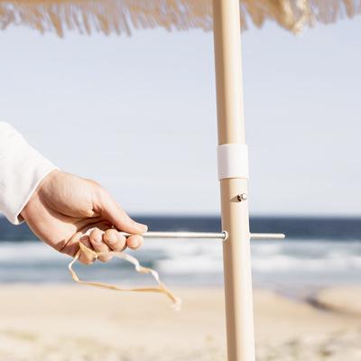 Antique White Beach Umbrella with pole