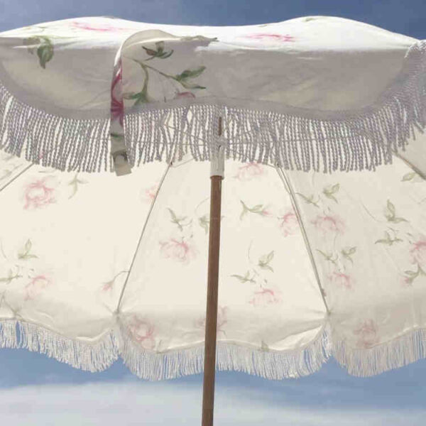 Custom Fringe Beach Umbrella