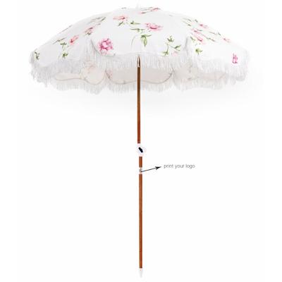 Rose Fringe Beach Umbrella