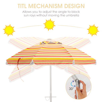beach umbrella with adjustable tilt