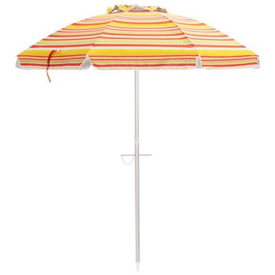 beach umbrella with air vented