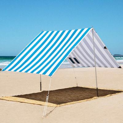 blue beach tent
