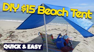 custom beach tent