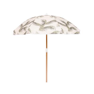 retro palm tree beach umbrella
