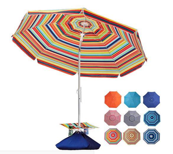 Rowhy 7.5ft Beach Outdoor Heavy Duty Sunshade Umbrella